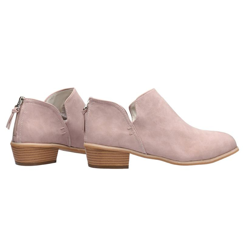 2018 NEW Women Ladies Autumn Shoes Fashion Ankle Solid Leather Martin Shoes Short Boots  O0531#3018