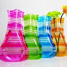 SZS Hot 20pcs 18cm*27.5cm Foldable plastic vase(Random send various styles)(China)