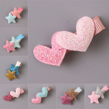 LNRRABC Baby Kids Girls Fashion Lovely Heart Star Shape Barrette Hair Clip Hairpins Ornament Hair Accessories Christmas Gifts(China)