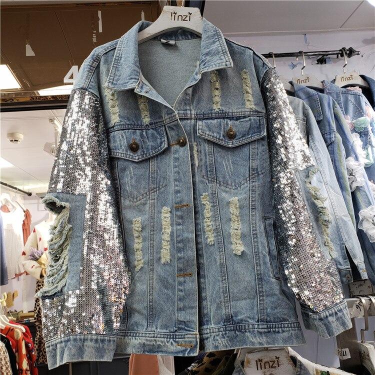 GloryA Womens Classic Fit Candy Color Top Coat Loose Denim Jacket