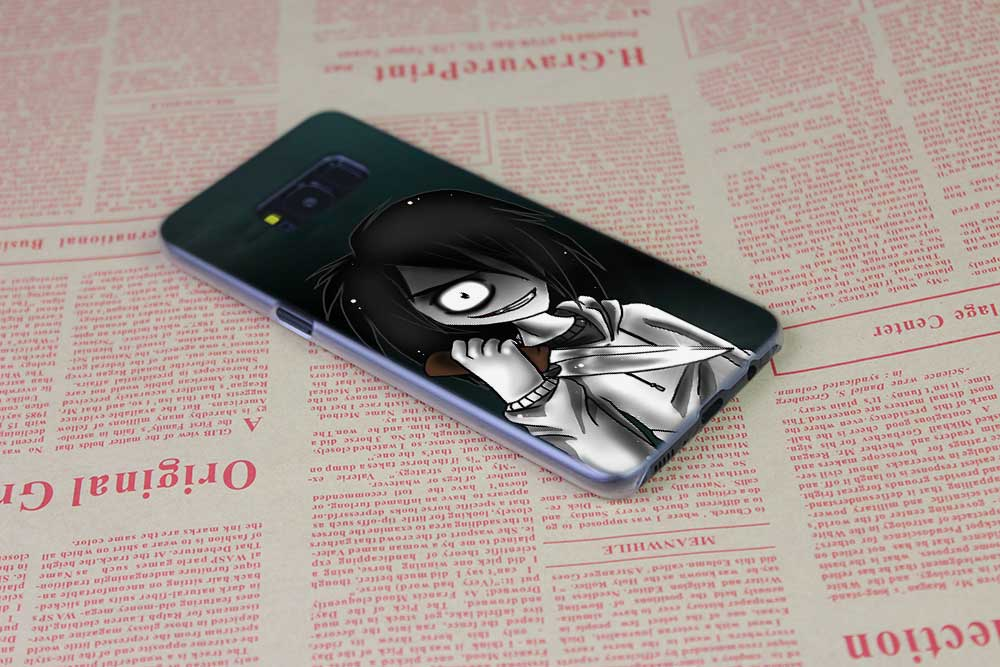 BINFUL case cover hard Transparent for Samsung S9 S8 S7 S6 S5 S4 S10 Edge Plus Mini Galaxy Note 9 8 5 4 anime Jeff The Killer