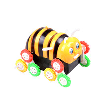 kids Gifts Electric Cute Funny Colorful Cartoon 9 wheels Bee Bucket Stunt Car Automatic Flip Extreme 360 Degree Tumbling Toy(China)