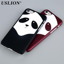 Buy USLION Cute Cartoon Panda Phone Case iPhone 7 7 Plus 6 6s Plus 5 5s SE Lovely Cute Animal Hard PC Back Cover Capa Fundas for $1.10 in AliExpress store