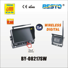 Heavy vehicle (trucks ,bus ,vans) reversing rearview wireless digital monitor with camera system BY-08217SW(China)