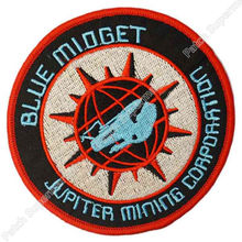 "4"" RED DWARF BLUE MIDGET TV MOVIE Series Uniform Red punk rockabilly applique iron on patch Wholesale Free Shipping"