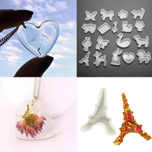 19Pc/Lot DIY Mixed Bird Trangle Heart Towel Flower Shape Silicone Pendant Necklace Mold Making Jewelry Resin Mould Craft Tool
