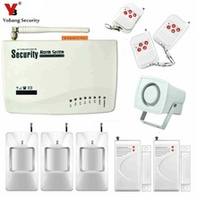 Yobang Security Tri-Band GSM Alarm System Anti-Theft Electronic Alarm For Home Protection SMS Alarm 10-second automatic message(China)