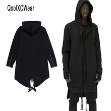 QoolXCWear Hoodies Men/women Hooded Cloak Plus Long Shawl Double Coat-Coat Assassins Creed Jacket Streetwear Oversize(China)