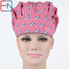 NEW Matin Surgical caps doctors and nurses cap and printed cotton cap long hair bouffant hat Brilliant(China)
