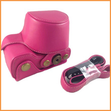 Rose Pink Direct charging Leather Camera Cases Cover Bag for sony Camera NEX-5T NEX-5R NEX-5RL NEX5R NEX5T