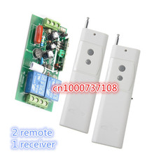 220V 2CH RF Wireless Remote Control Switches +3000m High power long distance remote 2 transmitter and 1 receivers