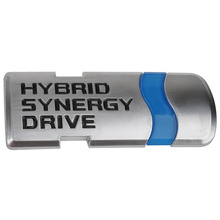 MAYITR HYBRID SYNERGY DRIVE Emblem ABS 3D Sticker Car Styling Badge Decal for Honda Toyota Blue + Silver(China)