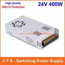 AC DC Switching Power Supply 24V 400W LED Driver Switch 17A for CNC Router Foaming Mill Cut Laser AC 100-240V Input to DC 24V(China)