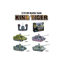 2017 New Great Wall 2203 1:72 Scale 4CH Mini RC Tank Radio Remote Control Simulation Tanks Model Toy Kids Christmas Gift(China)