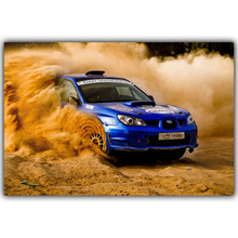 Rally Subaru Sti Car Poster Custom Home Decoration Fashion Silk Canvas Fabric Wall Poster Car Design Wallpaper YL036