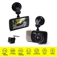 2017 Car Detector New Dual Lens Dvr 4 Inch Ips Large Screen Vehicle Recorder Ultra High Definition 1080p Night For Vision