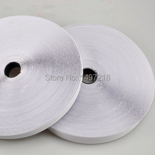 Free Shipping 1.5cmx10m 2 Rolls strong Hot Self-Adhesive magic  tape  adhesive hook and loop glue <br><br>Aliexpress