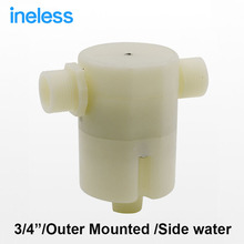 "Free shipping 3/4"" Side Built-in Water Outside Mounted Automatic Float Valve Water Level Control Valve For Solar Water Tank Pool"