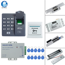 RFID Fingerprint Lock System Kit Set 125KHz Access Control with 180KG Electric Magnetic Lock/NONC Mortise Lock Password Lock(China)