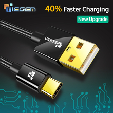 TIEGEM Nylon USB Type C Cable for Xiaomi Mi5 Type-c Fast Charger Data Cable for LG Nexus 5X 6P LG G5 Xiami 4C OnePlus 2 USB-C(China)