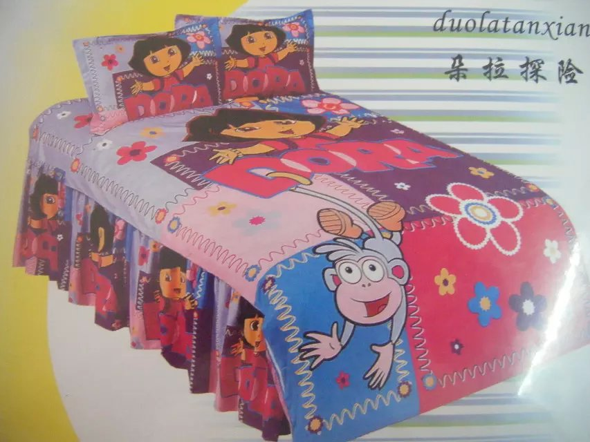 Cute Dora The Explorer Bedding Bedlinen Set 39 S Bedspreads For Single Twin