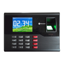 A-C121 TCP/IP Biometric Fingerprint Time Clock Recorder Attendance Employee Electronic Punch Reader Machine Realand with 2.8''