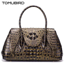 TOMUBIRD new superior genuine leather handbags  brand women bag Embossed Crocodile  Designer tote bag Leather shoulder bag
