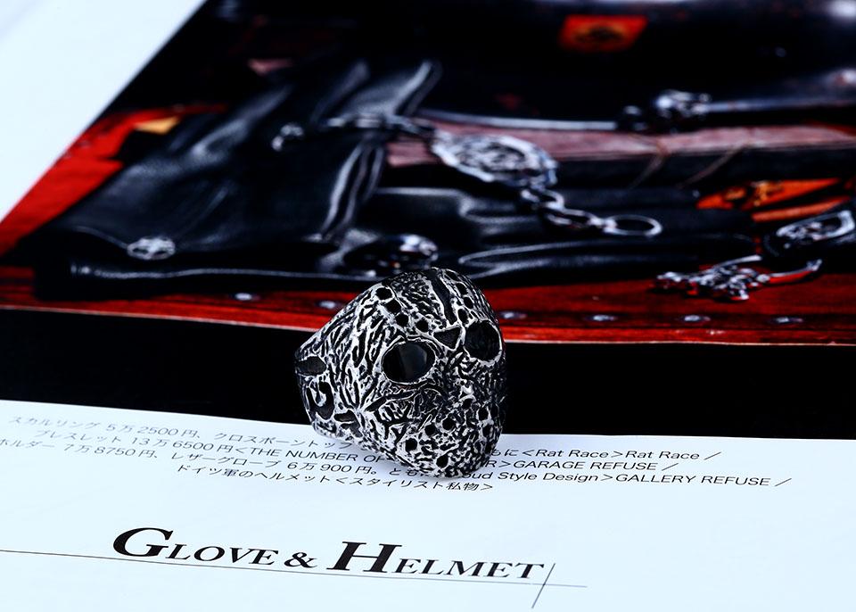 แหวนแฟชั่น Code 058 Friday 13 สแตนเลส Series 1 หน้ากากเจสันโหดๆ6