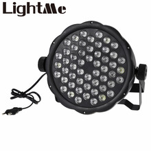 New LED Stage Lights AC 110 - 220V 54 x 1W LED Stage Light RGBW DMX512 Party Lamp for DJ Disco Party KTV For EU US Plug