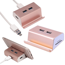 3 Ports USB3.0 HUB with SD/TF OTG Card Reader for PC Phone Laptop for USB flash disk/mobile hard disk/keyboard(China)