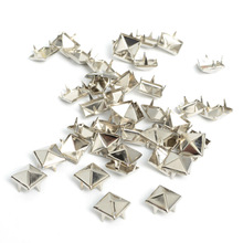 100pcs 8mm Apparel Sewing Pyramid Studs Nailheads Rivet Spike Punk Leather Craft Bracelets Clothes rivet Apparel Sewing