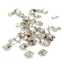 100pcs 8mm Apparel Sewing Pyramid Studs Nailheads Rivet Spike Punk Leather Craft Bracelets Clothes rivet Apparel Sewing(China)