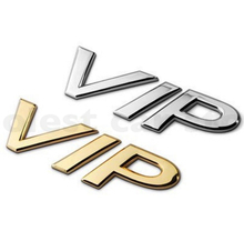 Car-Styling VIP Car Metal Stickers For BMW Benz Audi Opel VW KIA Toyota Hyundai Peugeot Ford Nissan Mazda Chevrolet Accessories