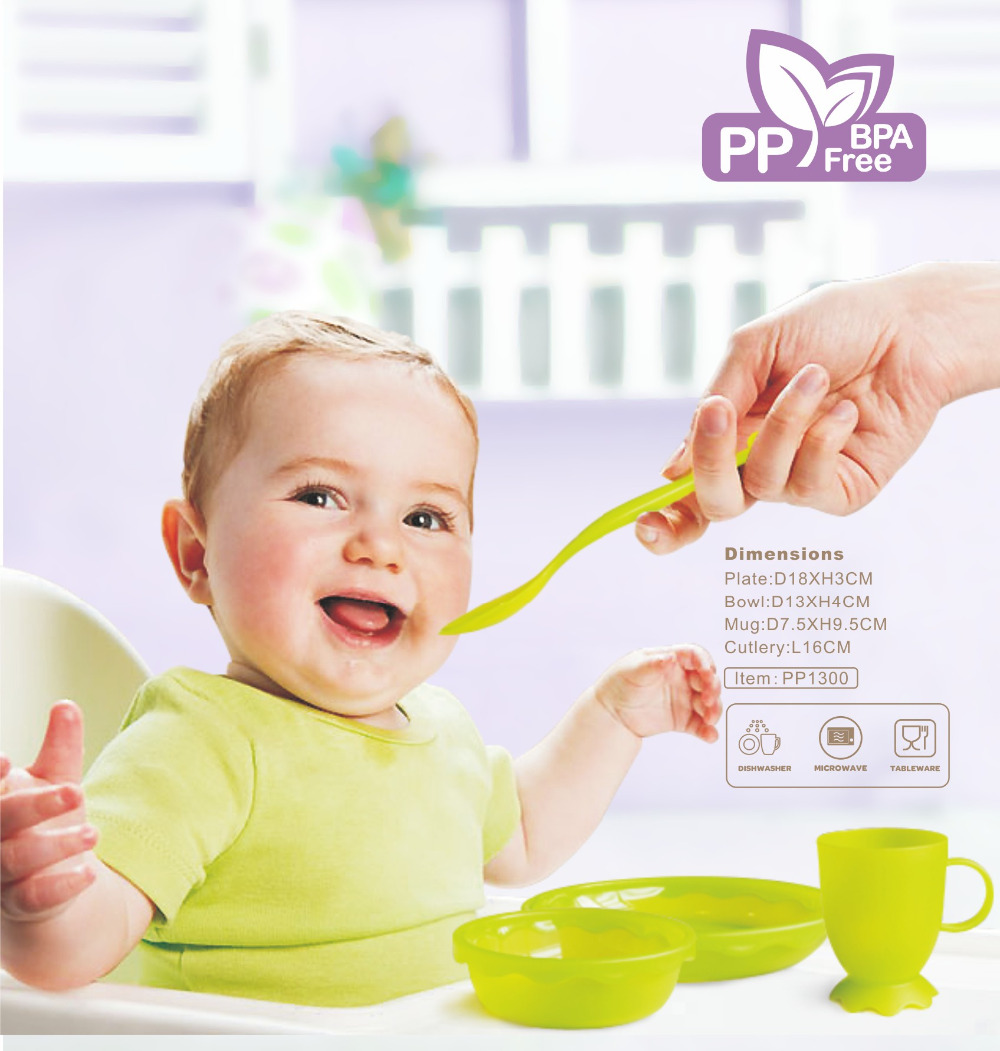 New Children Tableware BPA Free Plastic Baby Food Set Kids Dinnerware Plate Bowl Cup Fork Spoon Infant Dishes For Toddlers Baby (8)