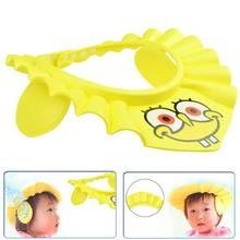 Enssu Brand Baby Kids Safe Shampoo Shower Bathing Cap Adjustable Elastic Soft Hat SpongeBob SquarePants Bathing Shower Cap(China)