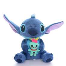 Unique Sitting Blue Lilo and Stitch Hold Scrump Plush Cotton Blend Kids Boys Anime Collectible Toys Dolls 9'' Brand NEW 23cm