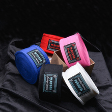 2pcs/pack 5M Cotton kick boxing bandage wrist straps sports Sanda Taekwondo Hand Gloves wraps bandagem muay thai