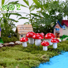2016 10Pcs Mini Red Mushroom Garden Ornament Miniature Plant Pots Fairy DIY Dollhouse