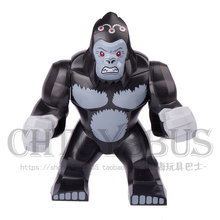 Decool 1pcs Gorilla Grodd Super Heroes Avengers Ultron DARKSEID Assemble minifig Model Building Blocks Kids Toys Gifts(China)