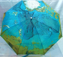 New arrival map umbrella fully-automatic three fold umbrella personalized folding sun protection umbrella sun umbrella