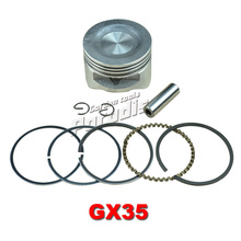 GX35 Engine Piston Kit 39mm with Piston Ring Set for Brush Cutter Trimmers Motor Brushcutters Repalcement Parts