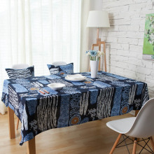 Bohemian Mediterranean Table Cloths Red/Blue Sunflower Rectangle Table Cover Cotton Linen Table Cloth Living Room Table Covers(China)