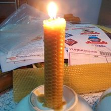 30 pieces/lot handmade rolled beeswax candle(China)