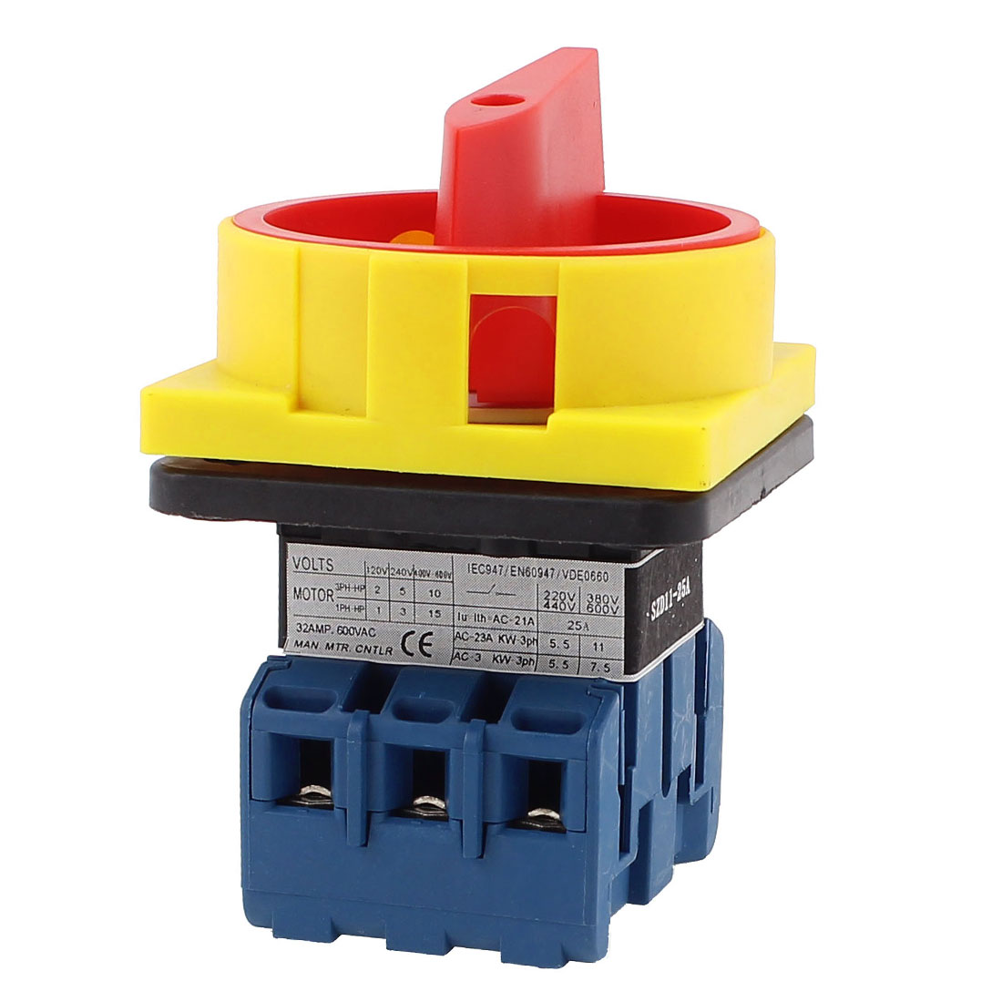UXCELL Ac 600V 25A On/Off 2 Positions 3 Phase Rotary Cam Changeover Switch<br><br>Aliexpress