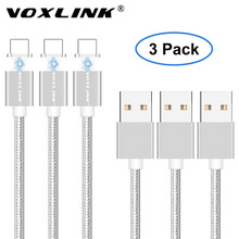 VOXLINK Magnetic Cable 3 Pack 2.4A Charge Data USB Cable for Apple iPhone 8/8 Plus 7 6s Plus 5s iPad Magnet Fast Charging Cable(China)