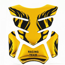 Golden Tiger Motorcycle Sticker Carbon Fiber Tank Pad TankPad Protector Decal Fuel Tank Gas Cap Cover Pad King Kong Hornet(China)