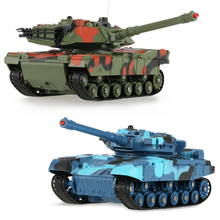 Newest RC Battle Tank CRAZON 333-TK11A 1/24 Scale Two Infrared Remote Control Battle Tank Toys for Kids(China)