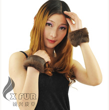 Free Shipping CX-A-28C Women Cute Genuine Rabbit Fur Cuff(China)