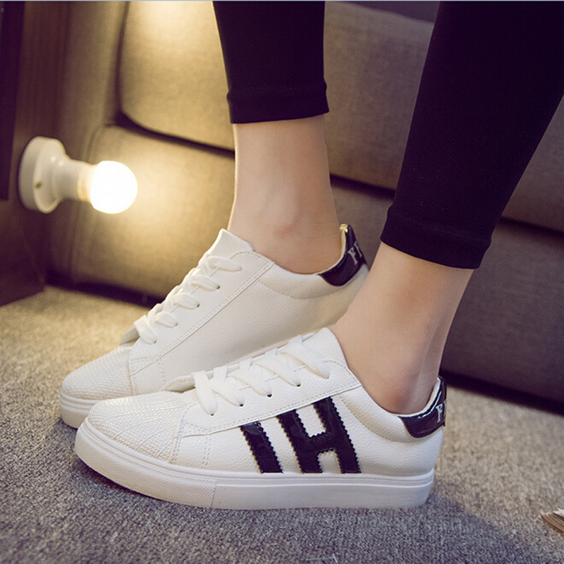 Manresar NEW 2017 Fashion Women Casual Shoes PU Leather Loafers Flats Lace up Platform Ladies Girl Students 4 Color Size 35-40<br><br>Aliexpress