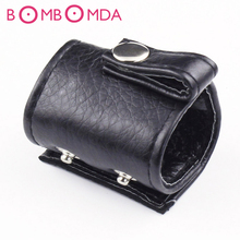 Buy Adjustable Penis Rings Leather Scrotum Bondage Belt Ring Male Chastity Device Cock Ball Bondage BDSM Adult Sex Toy MenO4